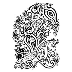 Paisley background. Hand Drawn ornament. Vector illustration