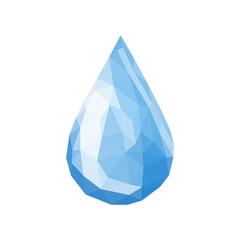 drop of water triangles polygonal simple vector on white