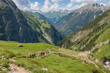 Wandern in den Lechtaler Alpen Wall mural