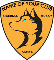 dog breeder club Siberian husky logo