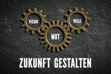 Zukunft gestalten mit den Komponenten Vision, Mut und Wille
