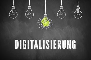 Digitalisierung als Thema auf Schultafel