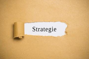 aufgerissenes Papier enthüllt Strategie