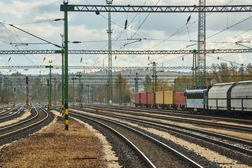 Railway with many tracks