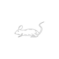 laboratory mouse icon. Simple element illustration. laboratory mouse symbol design template. Can be used for web and mobile