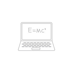 mathematical formula on a laptop icon. Simple element illustration. mathematical formula on a laptop symbol design template. Can be used for web and mobile