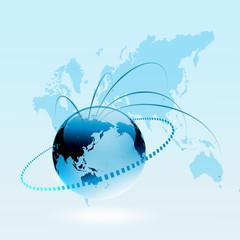 ビジネス背景 ビジネス グローバル 世界地図 世界販売