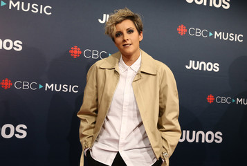 Ria Mae arrives at the 2018 Juno Awards in Vancouver