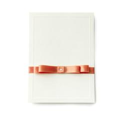 wedding card isolated on white