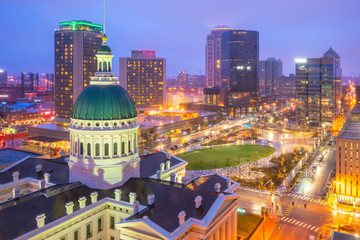 St. Louis downtown skyline at twilight Fototapete