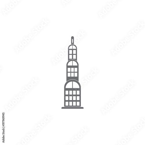 Skyscraper Building Icon Simple Element Illustration Symbol Design Template Can Be