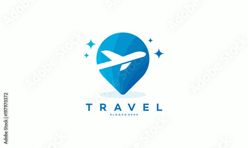 travel logo designs concept vector travel point logo with plane