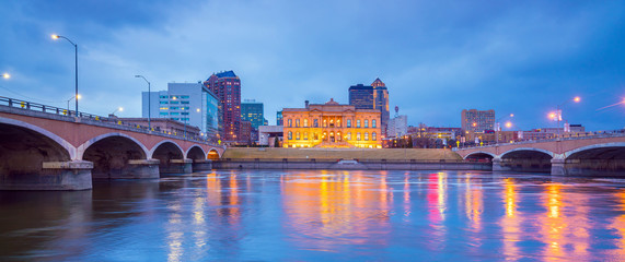 Des Moines Iowa skyline in USA