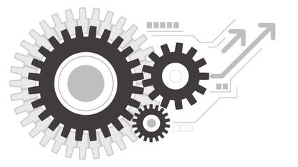Gears wheels creative working icon background