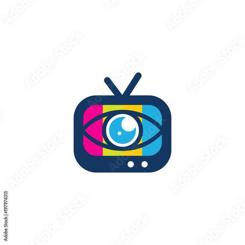 Eye Tv Logo Icon Design