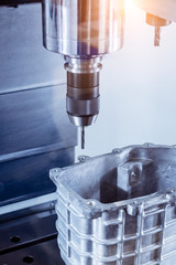 CNC milling machine during operation.