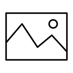 Picture Line Icon. Vector Simple Minimal 96x96 Pictogram