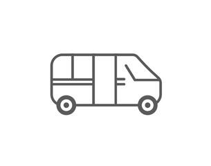 Modern car and bus Transport icon