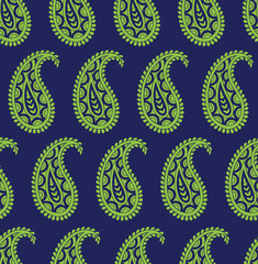 Seamless vector simple paisley pattern