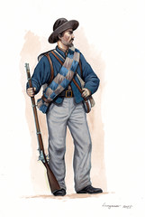 Infantry of Confederate States of America, US Civil war.