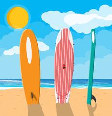 Landscape of beach surfboard