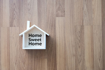 Home sweet home copy space Handmade home Shaped symbol house