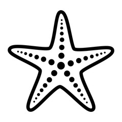 Common starfish or sea star fish marine life line art vector icon for apps and websites