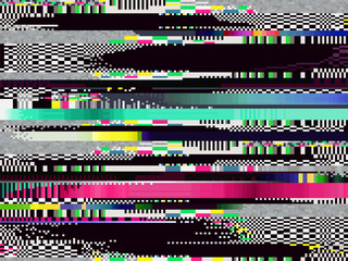 Glitch computer screen data error fail tv signal