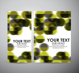 Brochure business design Abstract modern yellow Circle background.