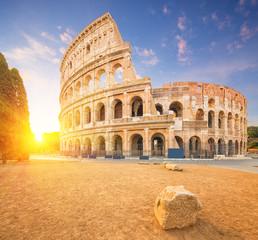 Fotomurales - Coliseum or Flavian Amphitheatre (Amphitheatrum Flavium or Colosseo), Rome, Italy.