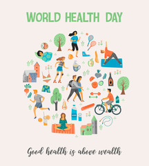 World Health Day. Healthy lifestyle.