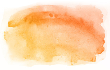 Orange Abstract watercolor hand painted background, isolated on white background, watercolor...