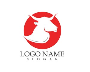 Bull Taurus Logo Template vector icon illustration