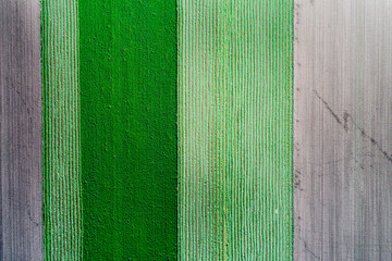 Aluminium Prints Green Top view of agricultural parcels