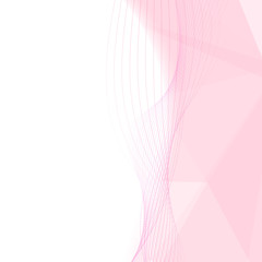 Rose pink crystal mild background with white zone