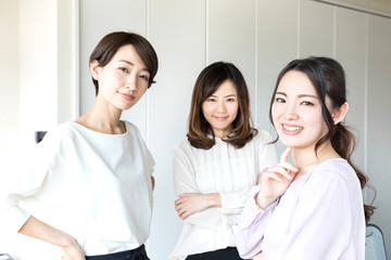 Group of asian businesswoman.