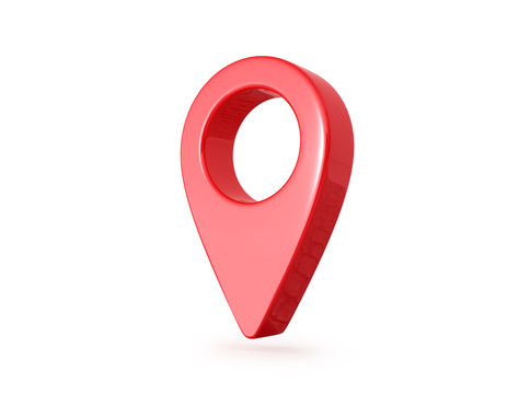 Gps pointer on a white background. 3D illustration