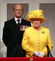 Madame Tussauds unveils its new royal balcony experience featuring wax figures of Britain's royal family in London