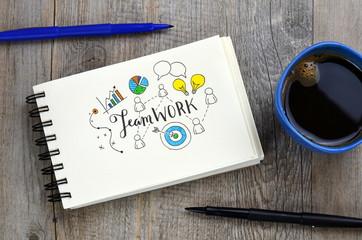 """""""TEAMWORK"""" Hand Lettered Sketch Notes"""