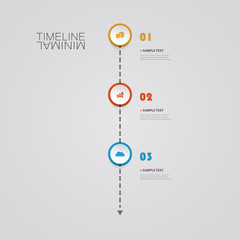Minimal Timeline Design - Infographic Elements with Icons