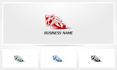 Motorcycle Cornering Motorsports Logo