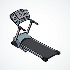 Treadmill. Vector drawing