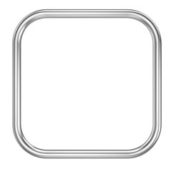 Metall frame ring isolated on white background - 3D rendering