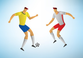 Illustration of soccer players 06
