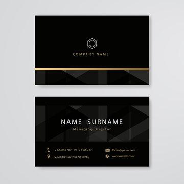 luxury design business card flat template vector