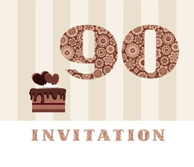 Search photos 90 years invitation color 90 years old chocolate cake heart shaped vector bookmarktalkfo Image collections