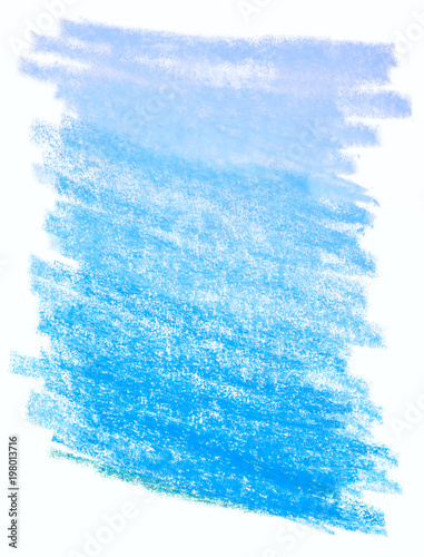 color blue wax crayon pencils hand drawing pencils background stock