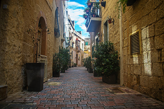 Old Streets and Houses in Birkirkara, Malta