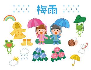 梅雨のイメージイラスト素材