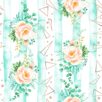 Mint Peach Pattern Photos Royalty Free Images Graphics Vectors Videos Adobe Stock